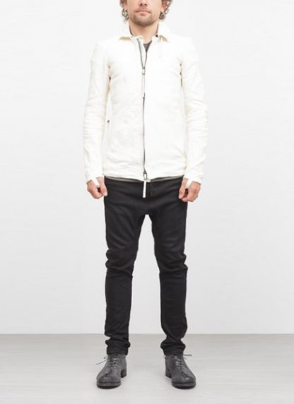 Boris Bidjan Saberi jacket J2 white kangaroo leather FW1718 hide m 3