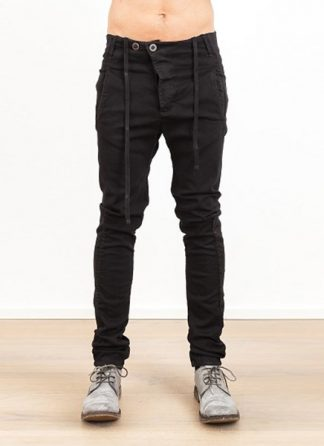 Boris Bidjan Saberi men pants P11 BLACK COTTON LYCRA SS17 hide m 2