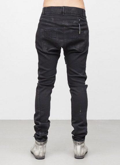Boris Bidjan Saberi men pants P13 tight fit FW1718 co pu F1603K black hide m 4