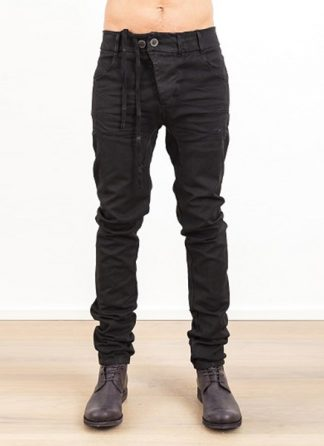 Boris Bidjan Saberi men pants P13RF regular fit FW1718 black CO EA hide m 2