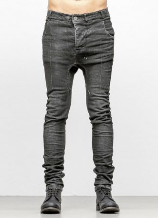 Boris Bidjan Saberi men pants P14 cotton pu FKU10001 dark grey hide m 2