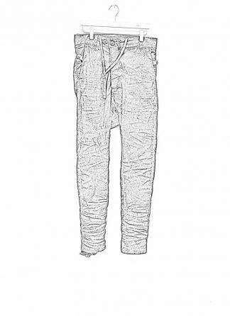 Boris Bidjan Saberi men pants P23 roots patina grey FDD10006 hide m 1