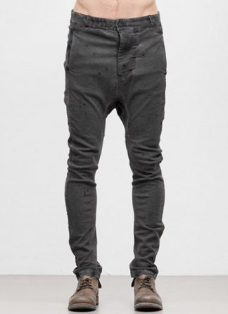 Boris Bidjan Saberi men pants P4 cotton lycra F1939 dark grey hide m 2