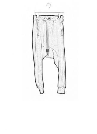 Boris Bidjan Saberi men pants longjohn2 cotton eu black hide m 1