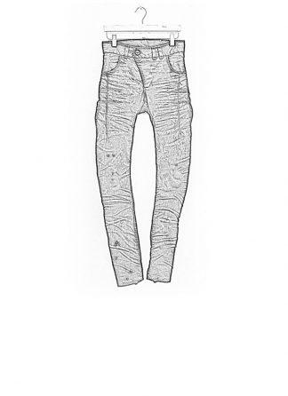 Boris Bidjan Saberi pants P13HS tight fit fully hand stiched cotton pu FW1718 black hide m 1