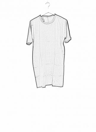 Boris Bidjan Saberi roots men one piece ts oversize tshirt black cotton F035 hide m 1