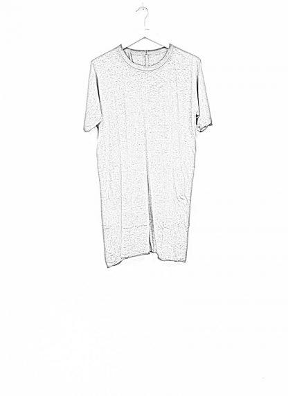 Boris Bidjan Saberi roots men one piece ts oversize tshirt dirty grey cotton F035 hide m 1