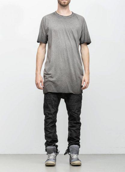 Boris Bidjan Saberi roots men one piece ts oversize tshirt dirty grey cotton F035 hide m 3