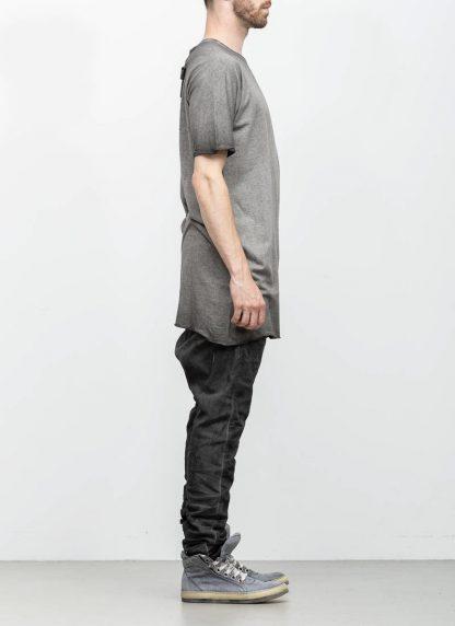 Boris Bidjan Saberi roots men one piece ts oversize tshirt dirty grey cotton F035 hide m 4