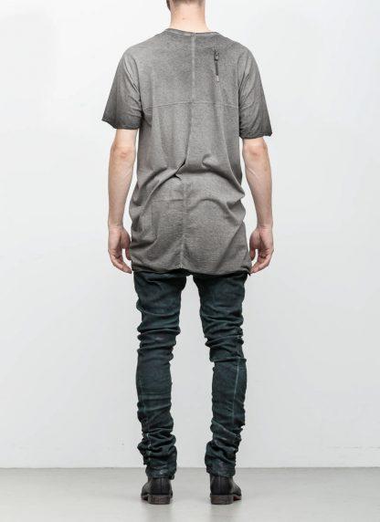 Boris Bidjan Saberi roots men one piece ts oversize tshirt dirty grey cotton F035 hide m 5