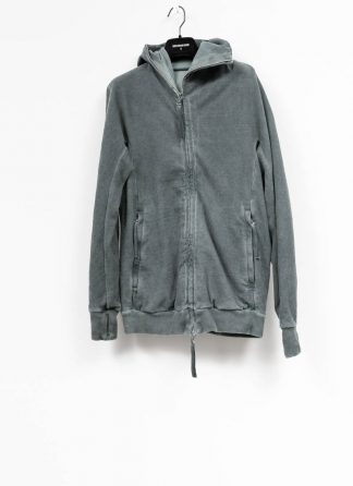 Boris Bidjan Saberi roots men zip jacket ZIPPER2 patina blue cotton FMV00014 hide m 2 1