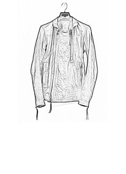 Boris Bidjan Saberi ss19 men jacket J5 cow calf leather F2401M black hide m 1