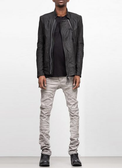 Boris Bidjan Saberi ss19 men jacket J5 cow calf leather F2401M black hide m 2