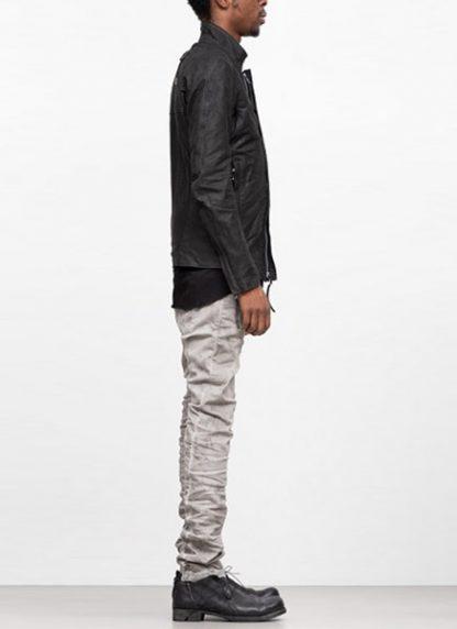 Boris Bidjan Saberi ss19 men jacket J5 cow calf leather F2401M black hide m 4