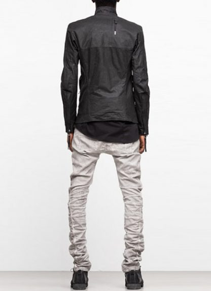 Boris Bidjan Saberi ss19 men jacket J5 cow calf leather F2401M black hide m 5