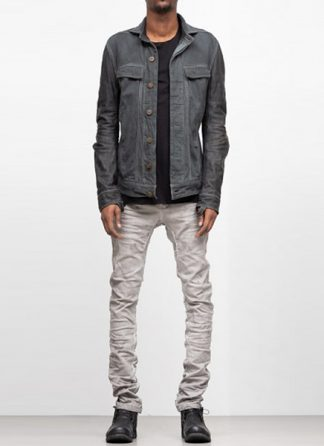Boris Bidjan Saberi ss19 men jacket TEJANA1 cotton F1913 horse leather FMM20002 dark grey hide m 2