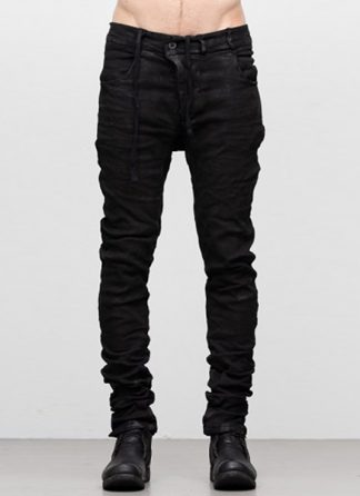Boris Bidjan Saberi ss19 men pants P13TF cotton ly FTS10005 black hide m 2