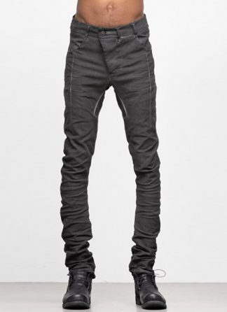 Boris Bidjan Saberi ss19 men pants P13TF dark grey F1402T cotton elastan hide m 2