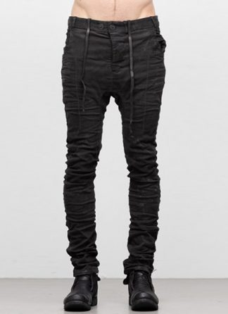 Boris Bidjan Saberi ss19 men pants P14 cotton lycra F1939 dark grey hide m 2