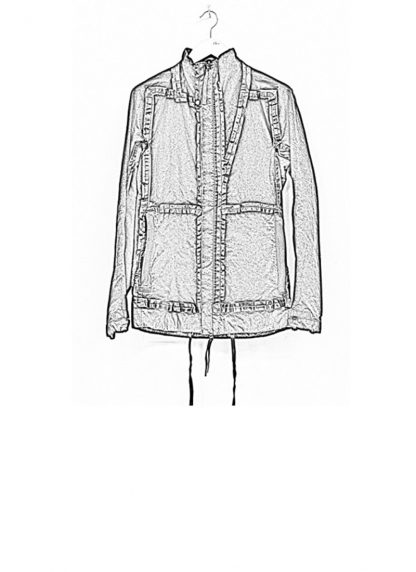Boris Bidjan Saberi ss19 reversible jacket outdoor4 cotton F1504B black hide m 1