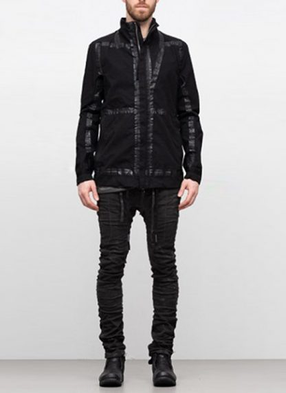 Boris Bidjan Saberi ss19 reversible jacket outdoor4 cotton F1504B black hide m 2