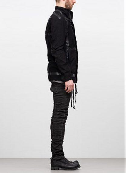 Boris Bidjan Saberi ss19 reversible jacket outdoor4 cotton F1504B black hide m 3