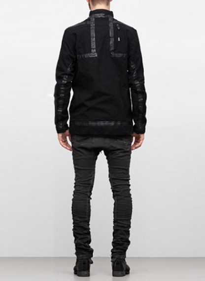 Boris Bidjan Saberi ss19 reversible jacket outdoor4 cotton F1504B black hide m 4