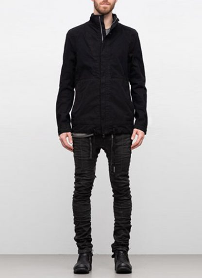 Boris Bidjan Saberi ss19 reversible jacket outdoor4 cotton F1504B black hide m 5