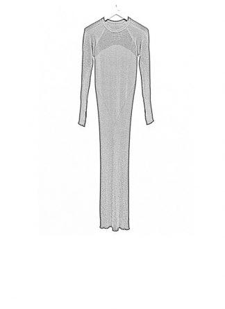 Boris Bidjan Saberi women knitted dress WKNDRESS1 cashmere F340 black FW18 hide m 1
