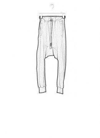 Boris Bidjan Saberi women pants LONGJOHN2 black SS17 hide m 1