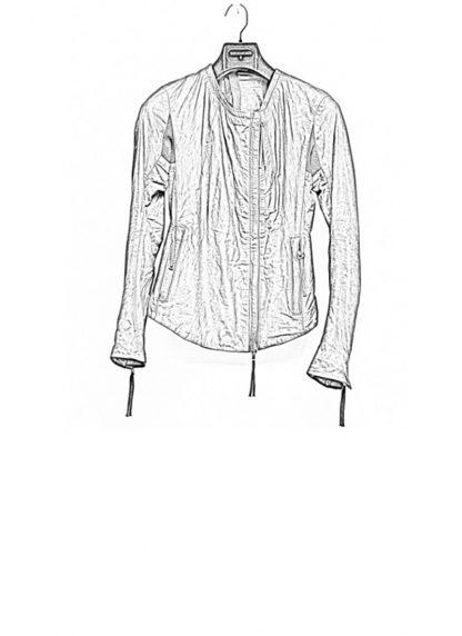 Boris Bidjan Saberi women zip leather jacket WJ2 washed calf F2510M black FW18 hide m 1