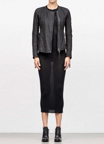 Boris Bidjan Saberi women zip leather jacket WJ2 washed calf F2510M black FW18 hide m 2