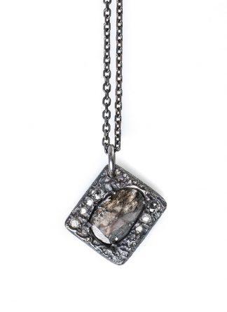 CHIN TEO omega neo diamond slice necklace sterling silver diamond hide m 1