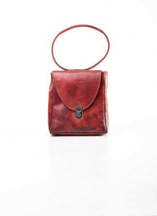 Cherevichkiotvichki women 51SS19 mini rectangular lock bag calf nubuck leather red uneven hide m 2
