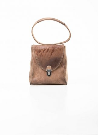 Cherevichkiotvichki women 51SS19 mini rectangular lock bag horse culatta leather natural brown hide m 2
