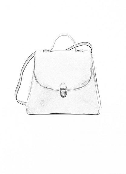 Cherevichkiotvichki women 52SS19 B small lock bag bleached calf leather dirty white hide m 1