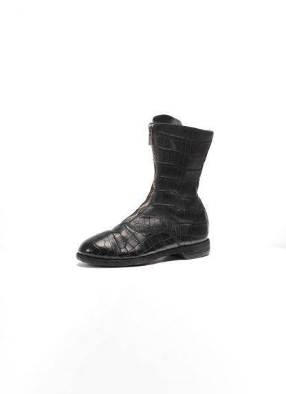 Guidi women front zip army boot schuh stiefel 310 crocodile leather black hide m 3