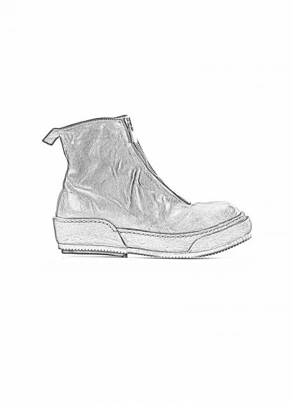 Guidi women front zip boot shoe PLS black horse full grain leather hide m 1
