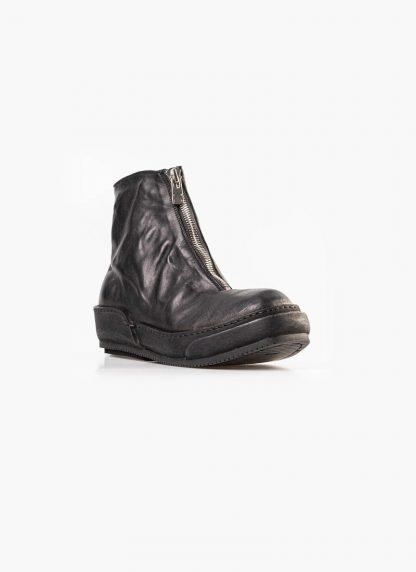 Guidi women front zip boot shoe PLS black horse full grain leather hide m 3