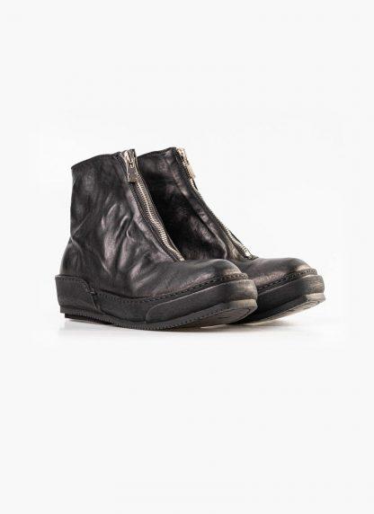 Guidi women front zip boot shoe PLS black horse full grain leather hide m 4