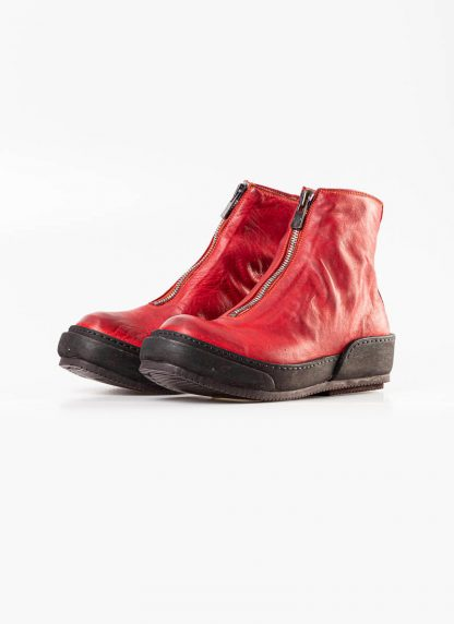 Guidi women front zip boot shoe PLS red 1006t horse full grain leather hide m 2