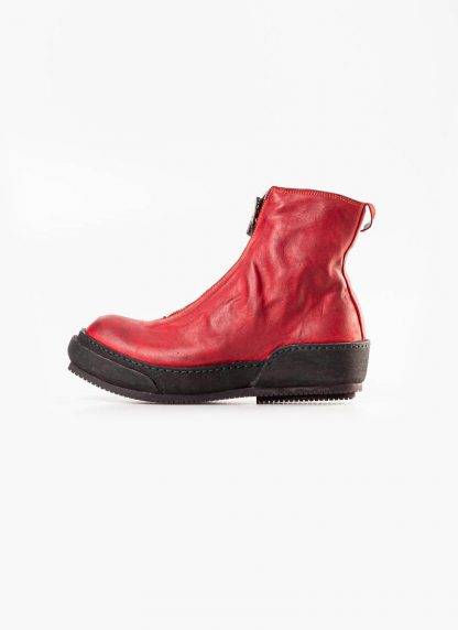 Guidi women front zip boot shoe PLS red 1006t horse full grain leather hide m 3