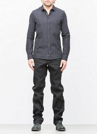 Individual Sentiments basic shirt ss18 black cotton hide m 2