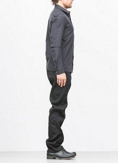 Individual Sentiments basic shirt ss18 black cotton hide m 3