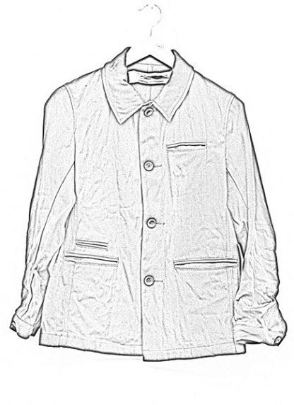 Individual Sentiments button down jacket ss18 black washi paper hide m 1