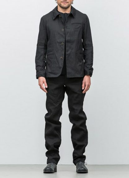Individual Sentiments button down jacket ss18 black washi paper hide m 2