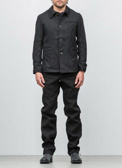 Individual Sentiments button down jacket ss18 black washi paper hide m 3