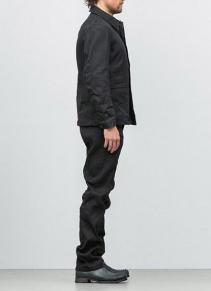 Individual Sentiments button down jacket ss18 black washi paper hide m 4