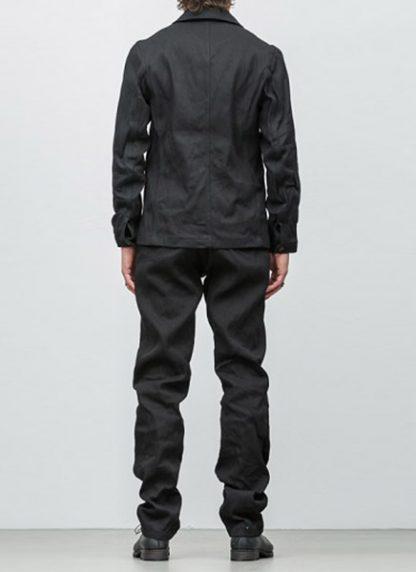Individual Sentiments button down jacket ss18 black washi paper hide m 5