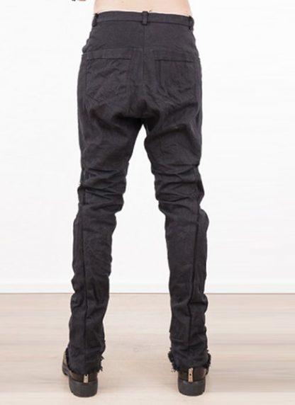 Individual Sentiments low crotch pants black japanese cotton hide m 4